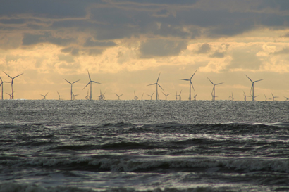 Offshore wind industry in the sea